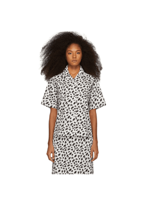 Ashley Williams SSENSE Exclusive Black and White Scribble Tropic Shirt