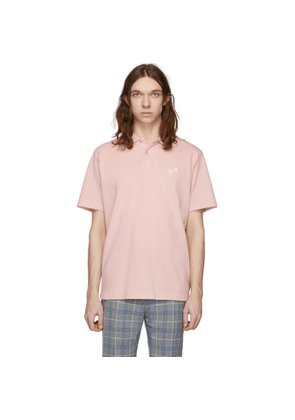 Band of Outsiders Pink Embroidered Dice Polo