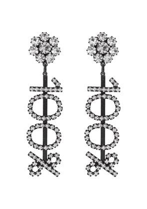 Ashley Williams Black and Transparent 100% Clip-On Earrings