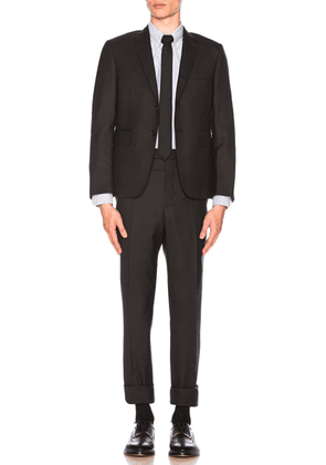 Thom Browne Classic Wool Suit in Charcoal - Black. Size 4 (also in 3).