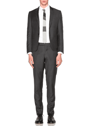 Thom Browne High Armhole Twill Suit in Dark Grey - Gray. Size 2 (also in ).