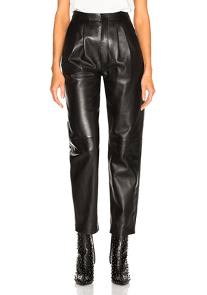 Saint Laurent Tapered Leather Pants in Black - Black. Size 36 (also in ).