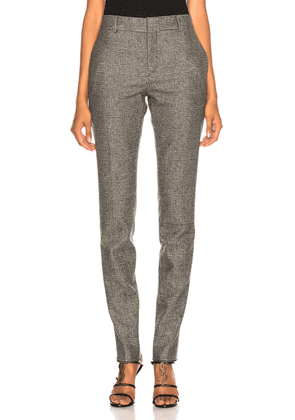 Saint Laurent Check Trousers in Black & Grey - Checkered & Plaid,Gray. Size 42 (also in ).