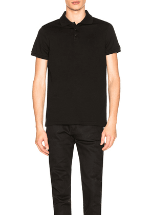 Saint Laurent Sport Polo in Black - Black. Size L (also in S,M,XL).