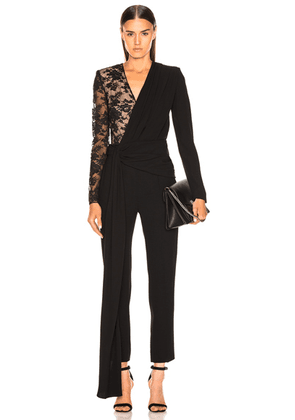 Givenchy Lace Jumpsuit in Black - Black. Size 38 (also in 36).