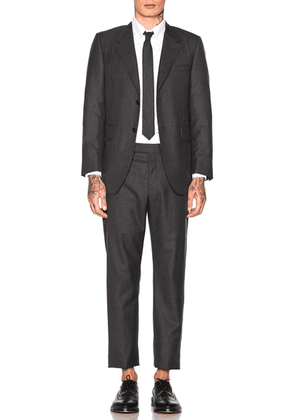 Thom Browne Wide Lapel Suit in Dark Grey - Gray. Size 1 (also in 2,3,4,5).