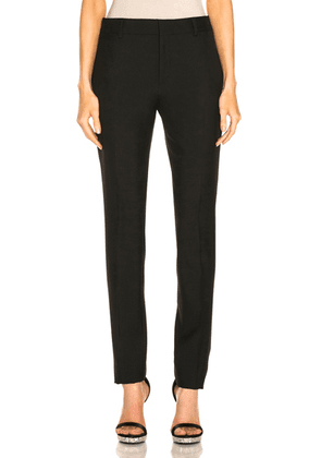 Saint Laurent High Waist Tailored Pant in Black - Black. Size 36 (also in 38,40).