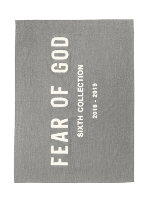 Fear of God Chenille Embroidered Throw in Heather Grey - Grey. Size all.