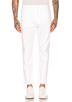 MOTHER The Chaser Ankle Cuff Jean in Tooth & Nail - White. Size 29 (also in 32,33).