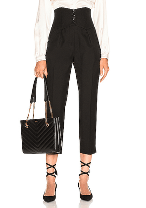 Saint Laurent Button Tailored Pant in Black - Black. Size 34 (also in 36).