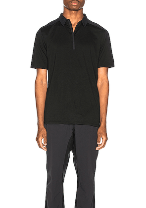 Arc'teryx Veilance Frame Polo in Black - Black. Size S (also in ).