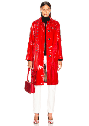 Burberry Patent Leather Coat in Bright Red - Red. Size 0 (also in 2,4).