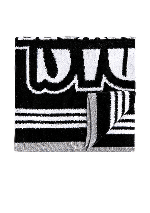 adidas by Alexander Wang Gym Towel in Black - Abstract,Black,White. Size all.