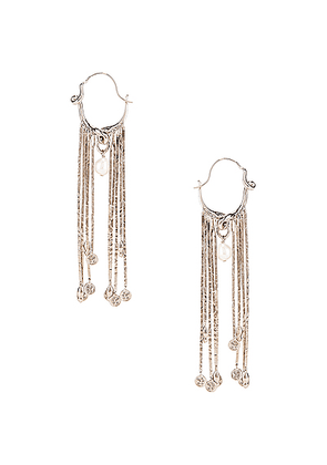 Givenchy Moon Earrings in Silver - Metallic Silver. Size all.