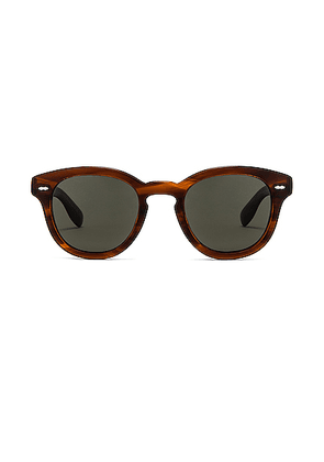 Oliver Peoples Cary Grant Sunglasses in Grant Tortoise - Brown. Size all.