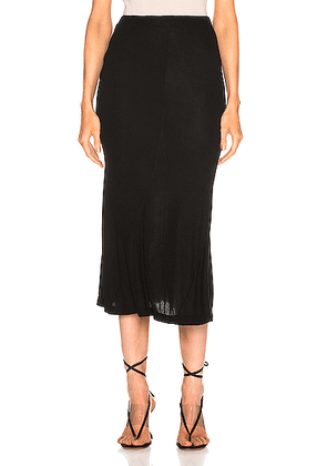AG Adriano Goldschmied Peary Skirt in True Black - Black. Size M (also in S,XS,L).