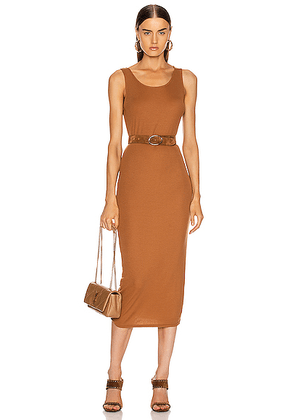 AG Adriano Goldschmied Viden Dress in Walnut Brown - Brown. Size L (also in M,S,XS).