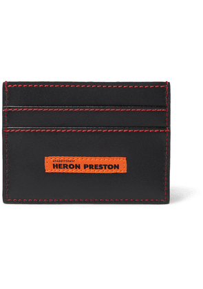 Heron Preston - Logo-detailed Leather Cardholder - Black