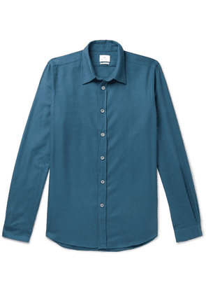 PS Paul Smith - Slim-fit Cotton-flannel Shirt - Teal