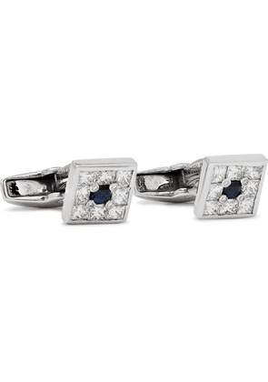 Deakin & Francis - 18-karat White Gold, Diamond And Sapphire Cufflinks - Silver