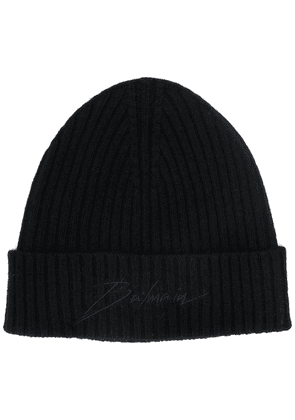 Balmain embroidered logo beanie - Black