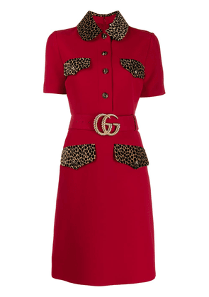Gucci Double G belted dress - Red