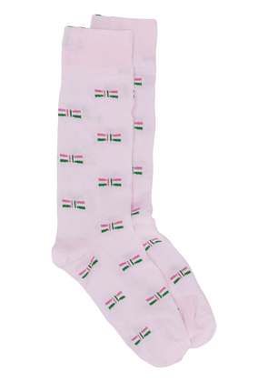 Thom Browne embroidered bow socks - Pink