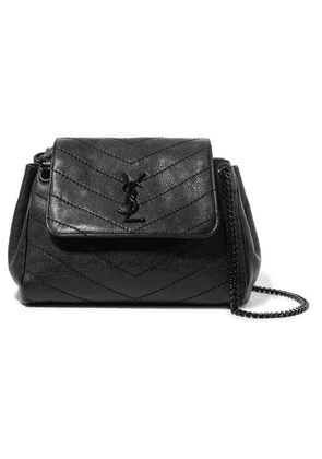 SAINT LAURENT - Nolita Small Quilted Leather Shoulder Bag - Black
