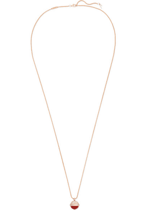 Piaget - Possession 18-karat Rose Gold, Carnelian And Diamond Necklace - one size
