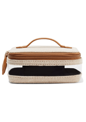 Paravel - Mini See All Vegan Leather-trimmed Canvas And Tpu Cosmetics Case - Beige