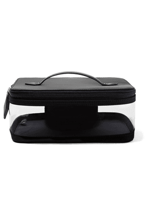 Paravel - See All Vegan Leather-trimmed Shell And Tpu Cosmetics Case - Black