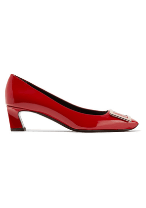 Roger Vivier - Belle Vivier Patent-leather Pumps - Red