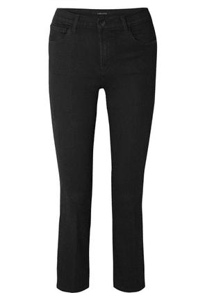 J Brand - Selena Cropped Mid-rise Flared Jeans - Black
