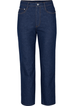 SIMON MILLER - W013 Cropped High-rise Straight-leg Jeans - Blue