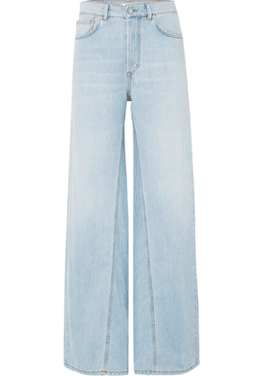 GANNI - High-rise Wide-leg Jeans - Light denim