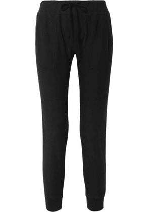 James Perse - Cotton-twill Track Pants - Black