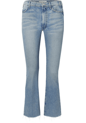 Mother - The Hustler Cropped Frayed High-rise Flared Jeans - Mid denim