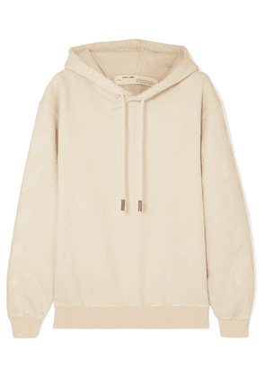 Off-White - Printed Cotton-terry Hoodie - x small