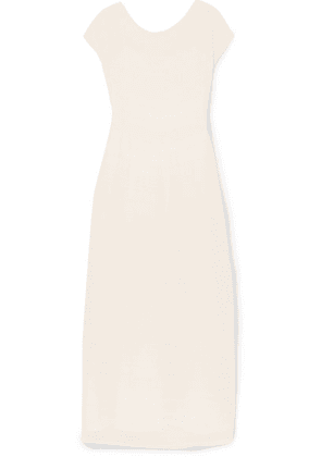 The Row - Prado Plissé-georgette Maxi Dress - Ivory