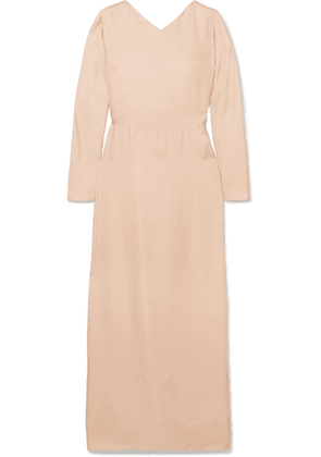 Deitas - Demeter Knotted Silk-twill Maxi Dress - Pink
