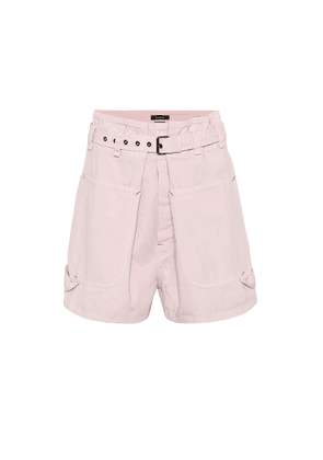 Ike high-rise denim shorts