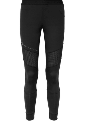 adidas by Stella McCartney - + Parley For The Oceans Essentials Mesh-paneled Climalite Stretch Leggings - Black
