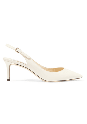 Jimmy Choo - Erin 60 Patent-leather Slingback Pumps - White
