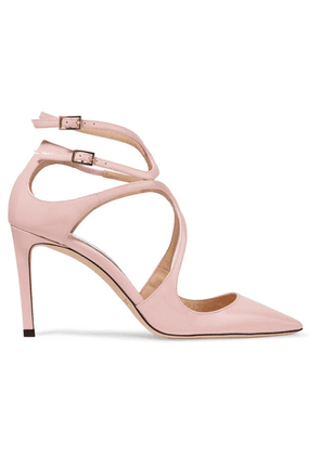 Jimmy Choo - Lancer 85 Patent-leather Pumps - Baby pink