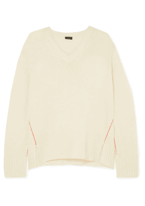Joseph - Striped Cashmere Sweater - Ecru