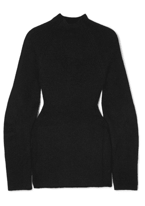 Chloé - Cutout Ribbed-knit Sweater - Black