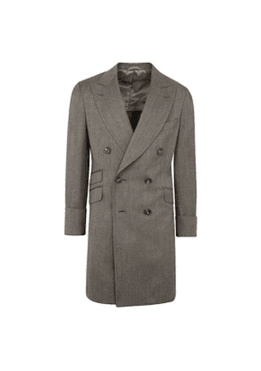 Grey Cashmere Coat