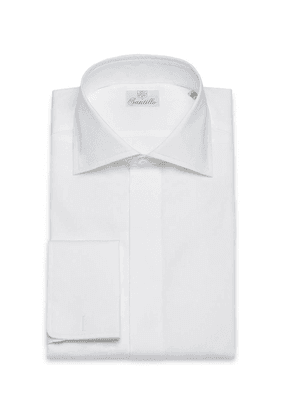 White Baccara Twill Cotton Shirt