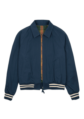Navy Cotton Bedford Cord Club Jacket