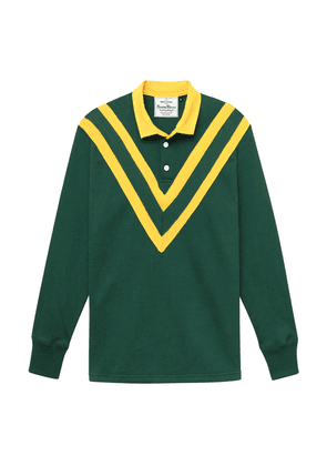 Hunter Green and Yellow Cotton Australian Rugby League Authentic Heavy Cotton Jersey